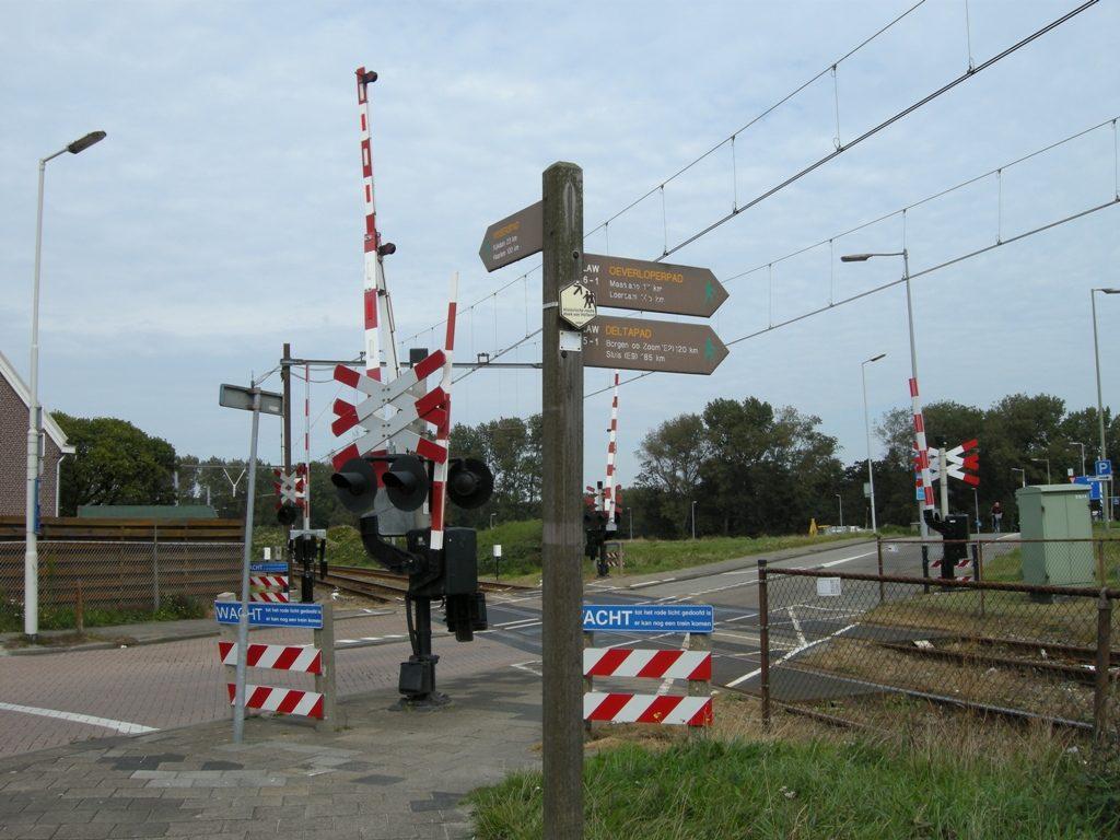 Start van de GR 5 in Hoek van Holland