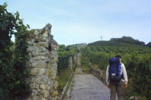 GR5 door Noord-Frankrijk: bij Remerschen in Zuid Luxemburg