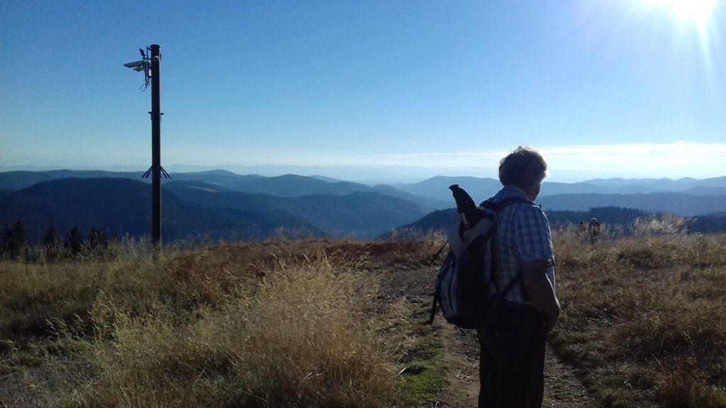 E1 door het Zwarte Woud-uitzicht vanaf de Feldberg