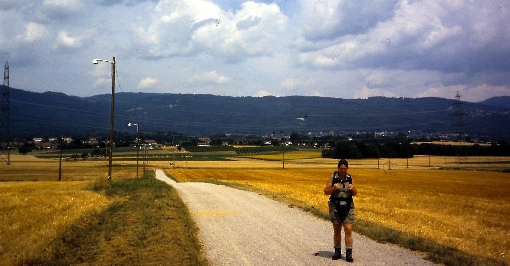 GR5-door de korenvelden naar het meer van Genève