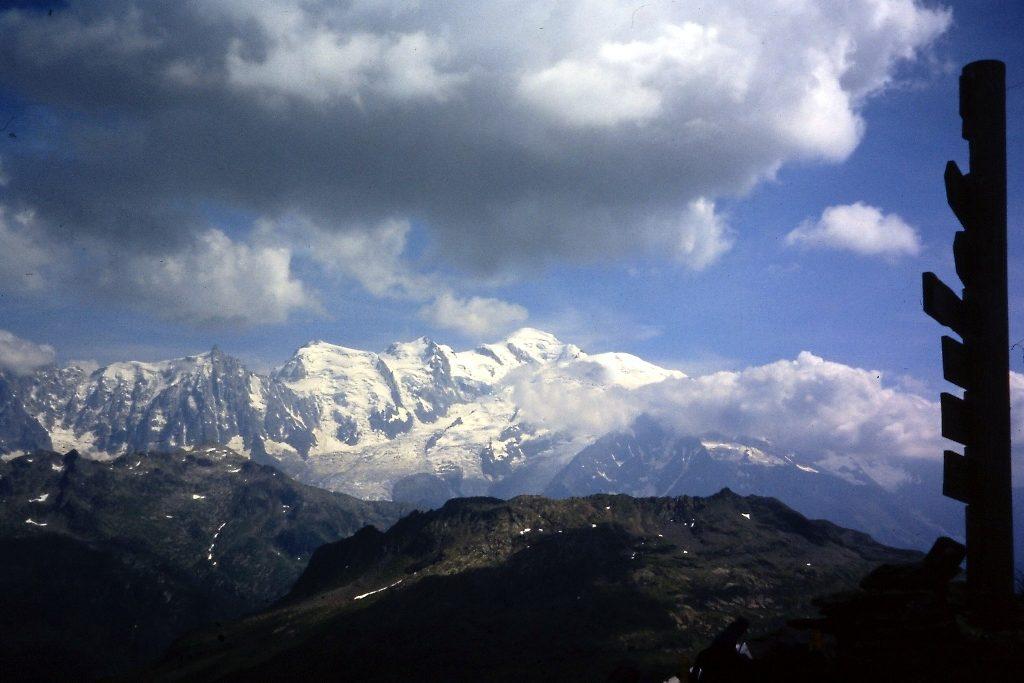 Zicht op het Mont Blanc massief vanaf Col d'Anterne