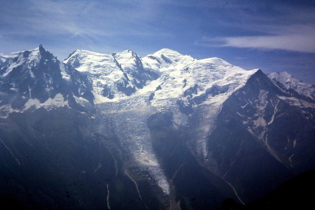 Op de Col du Brévent, zicht op de Mont Blanc