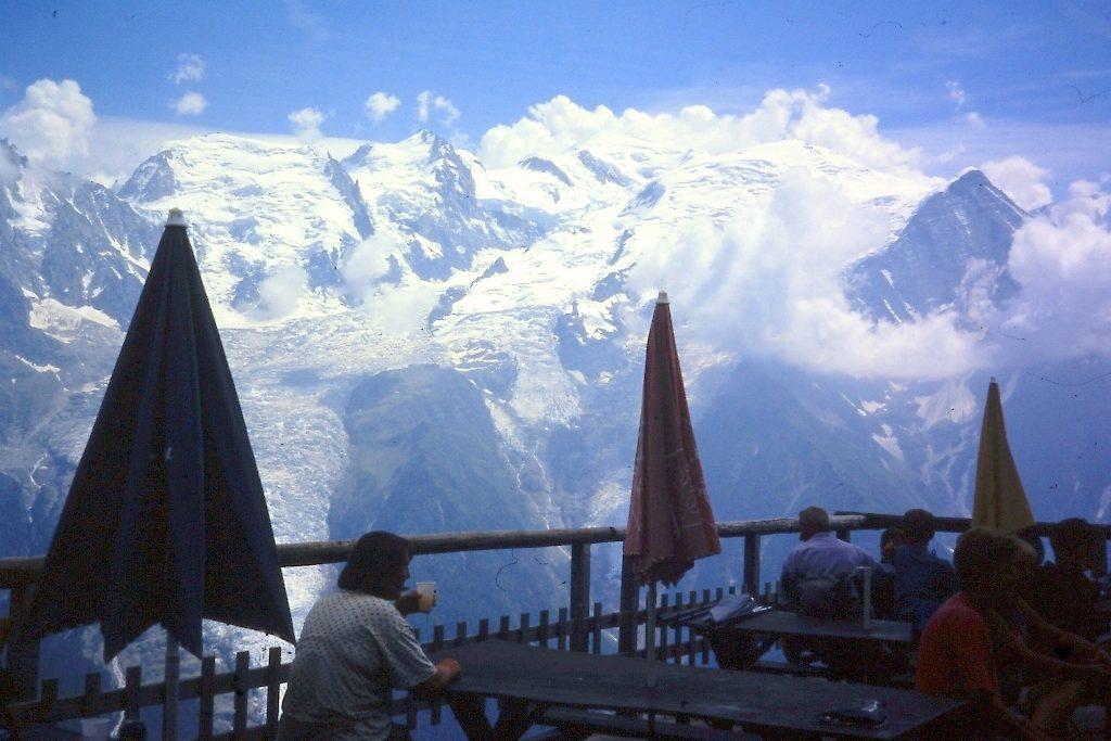 Op de afdaling naar Les Houches