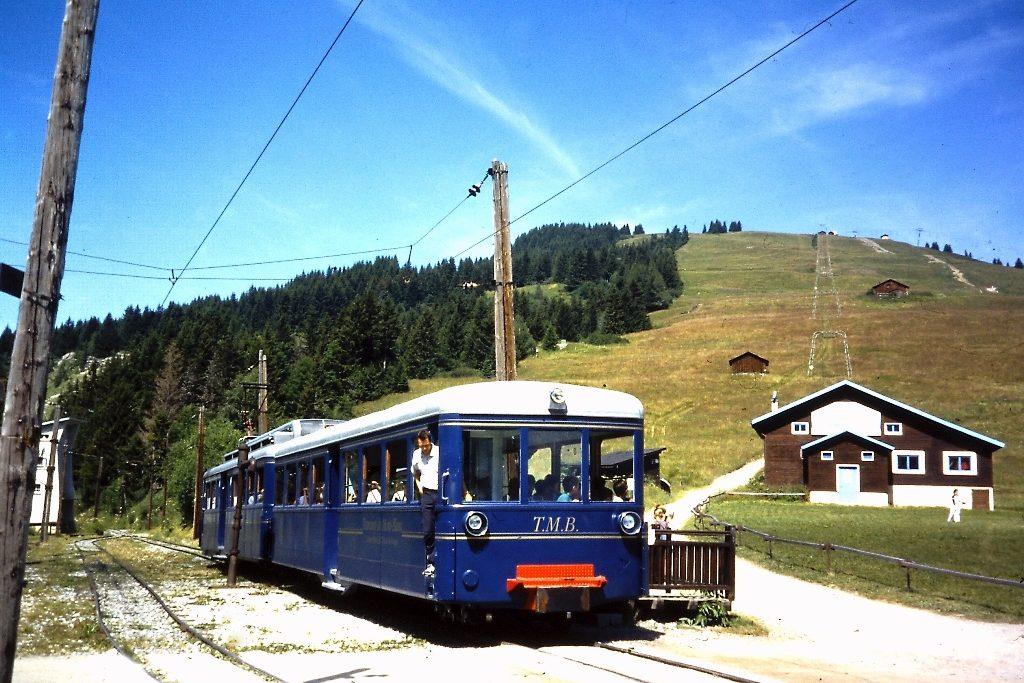Mont Blanc treintje op de Col du Voza